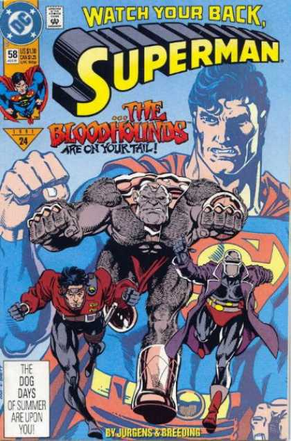 Superman (1987) 58 - Bloodhounds - Watch Your Back - Fist - Dc - The Bloodhounds