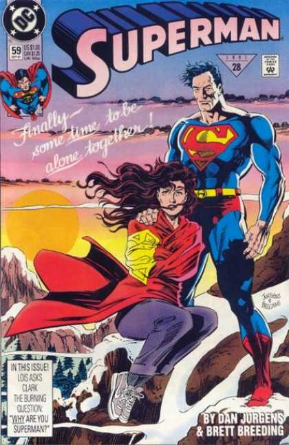 Superman (1987) 59 - Lois - Dan Jurgens - Woman - Cape - Alone Together - Dan Jurgens