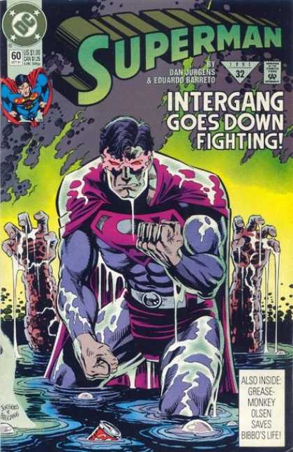 Superman (1987) 60 - Intergang Goes Down Fighting - Superman - Olsen - Dan Jurgens - Liquid - Dan Jurgens