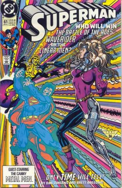 Superman (1987) 61 - Waverider - Linear Men - Time - Metal Men - Superman - Dan Jurgens