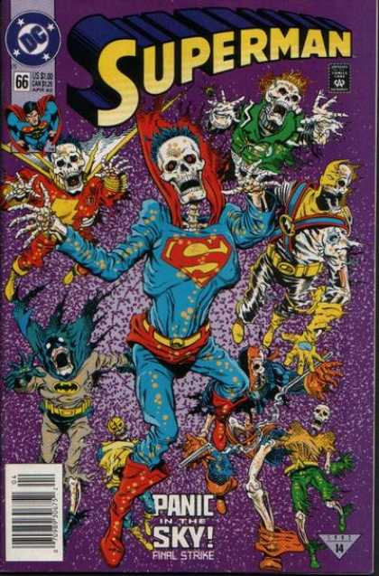 Superman (1987) 66 - Skeleton - Skeletons - Batman - Flash - Hero - Dan Jurgens