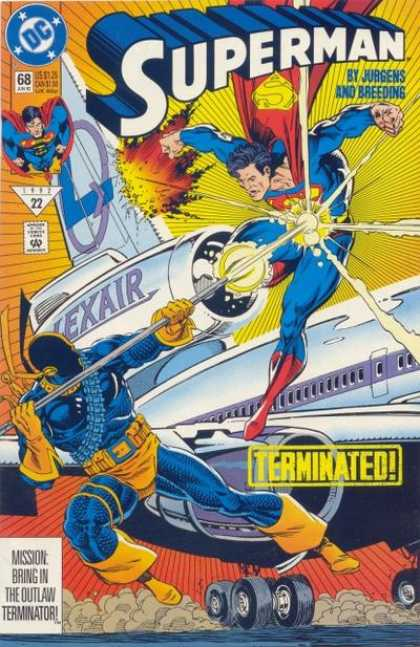 Superman (1987) 68 - Terminated - Lexair - Jurgens - Breeding - Airplane - Dan Jurgens