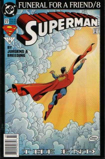 Superman (1987) 77 - Clouds - Sun - Funeral - End - Jurgens - Dan Jurgens