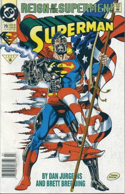 Superman (1987) 79 - Flag - Robot - Dan Jurgens