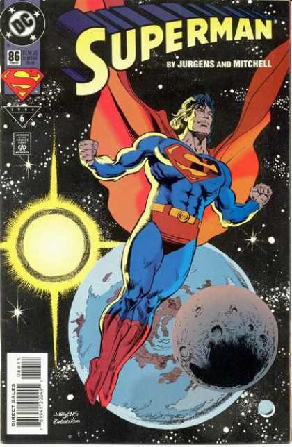Superman (1987) 86 - Earth - Jurgens - Mitchell - Sun - Dc - Dan Jurgens, Josef Rubinstein