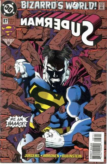 Superman (1987) 87 - Bizarro - Bricks - Jurgens - Immonen - Rubinstein - Dan Jurgens