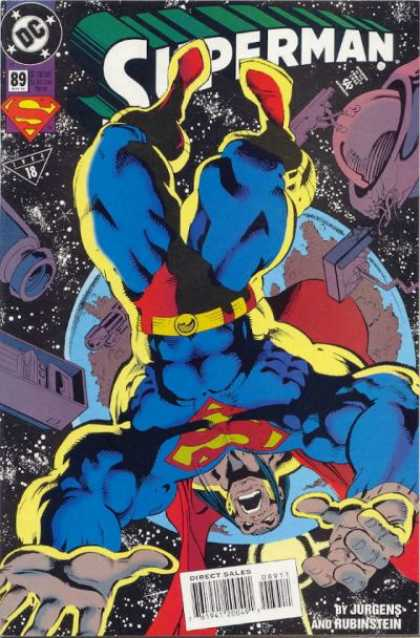 Superman (1987) 89 - Space - Jurgens - Rubinstein - Monster - Earth - Dan Jurgens, Josef Rubinstein