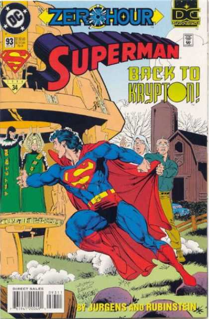 Superman (1987) 93 - Zero Hour - Back To Krypton - Dan Jurgens - Joe Rubinstein - Martha Kent - Dan Jurgens, Josef Rubinstein