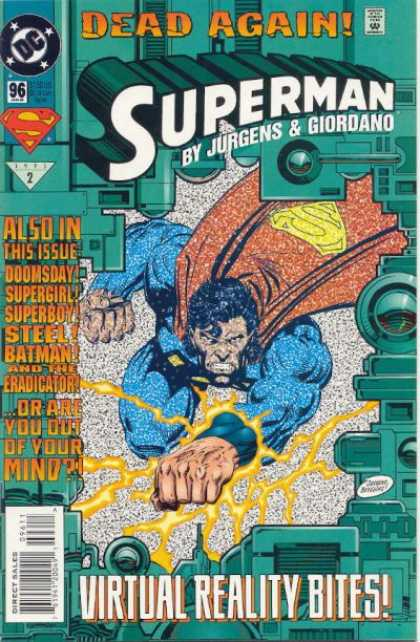 Superman (1987) 96 - Virtual Reality - Batman - Doomsday - Supergirl - Superboy - Dan Jurgens