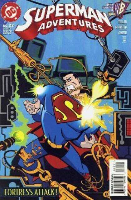 Superman Adventures 22 - Dc - Fortress Attack - No 22 - Wb - Kids - Terry Austin