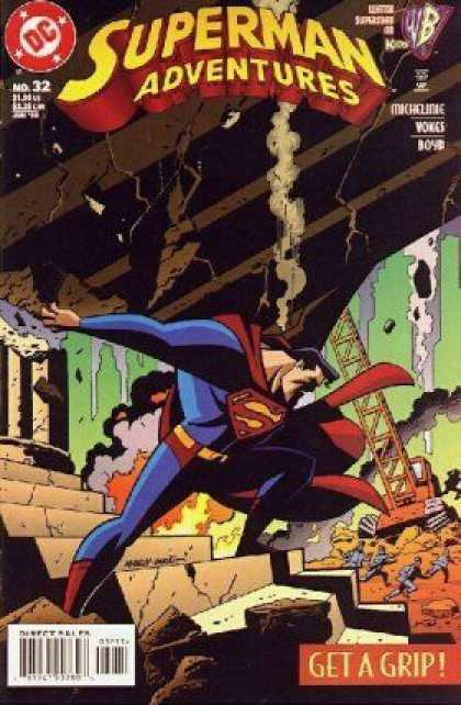 Superman Adventures 32 - Super Adventures - Stones - Ladder - Smoke - Steps - Mike Manley, Terry Austin