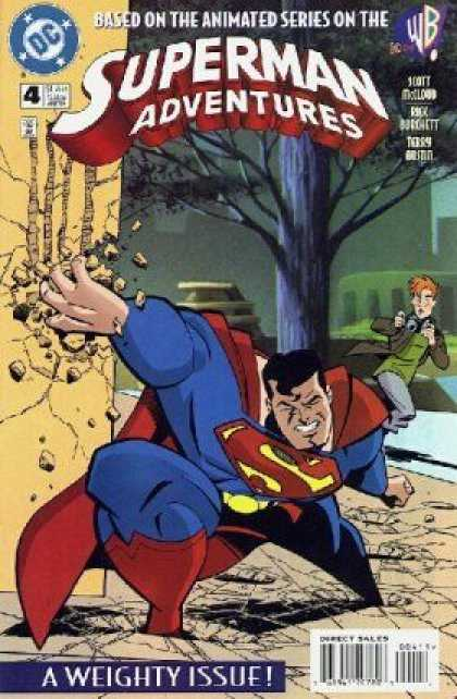 Superman Adventures 4 - Dc - Wb - Superhero - A Weighty Issue - Based On The Animated Series - Terry Austin