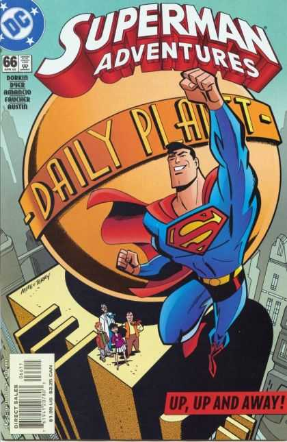 Superman Adventures 66 - Superman Conquering The World - Daily Planet Logo - Superman Making The Front News - Superman Has The World In Hands - The Front Page News - Mike Manley, Terry Austin