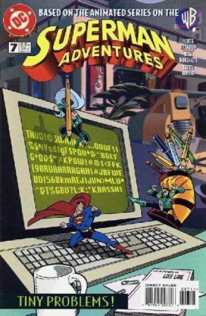 Superman Adventures 7 - Dc - Based On The Animated Series - Tiny Problems - Direct Sales - Computer - Terry Austin