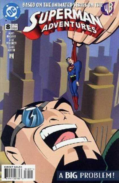 Superman Adventures 8 - A Big Problem - Animated Series - Wb - Hanging - Shouting - Terry Austin