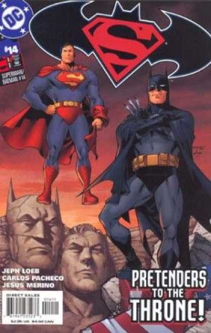 Superman/ Batman 14 - Superman - Batman - Superman And Batman Work Together - The Presidents In Stone - Saving History