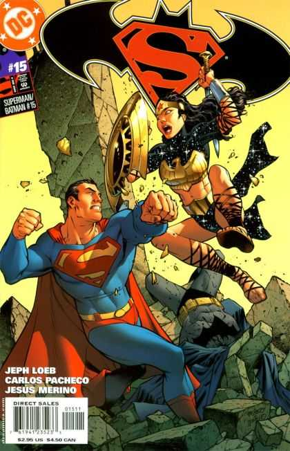 Superman/ Batman 15 - Hero - Superwoman - Fight - Battle - Strenght
