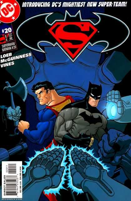 Superman/ Batman 20 - Mightiest Super Team - Hatched - Hands - Glowing - Surrounded