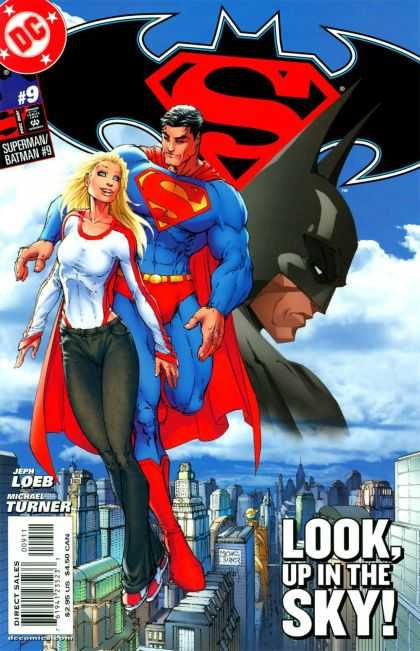 Superman/ Batman 9 - Loeb - Turner - Flying - Look - City