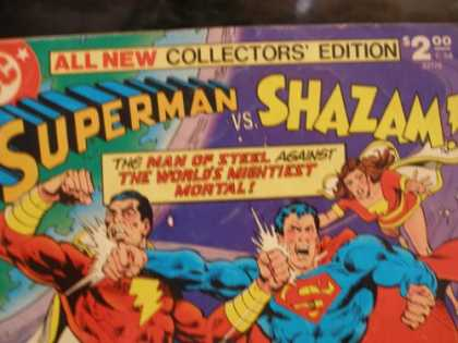 Superman Books - SUPERMAN VS. SHAZAM! ALL NEW COLLECTOR'S EDITION (HUGE COMIC BOOK)