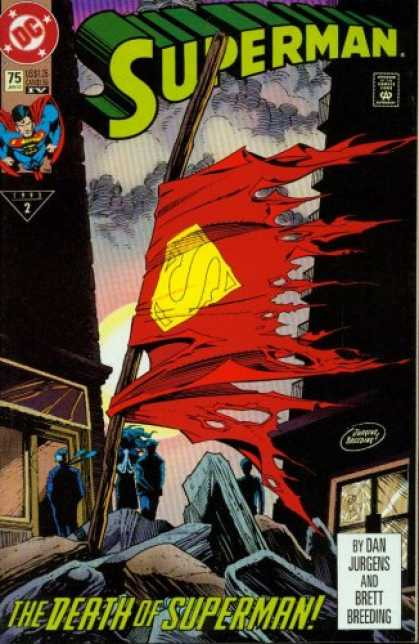 Superman Books - Superman #75 : Doomsday! (The Death of Superman - DC Comics)