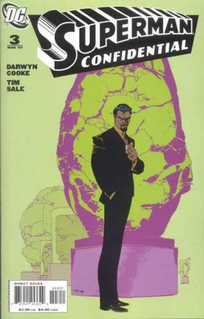 Superman Confidential 3 - Darwyn Cooke - Time Sale - Man In Suit - Dc Comics - Large Rock - Tim Sale