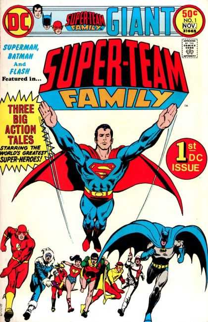 Superman Family 1 - Superman Batman And Flash - Three Big Action Tales - Giant - Dc - 50 C No1 Nov 31665