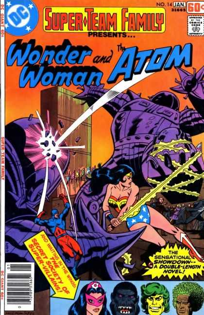 Superman Family 14 - Secret Society Of Super-villains - Wonder Woman - The Atom - Robots - Double-length Novel