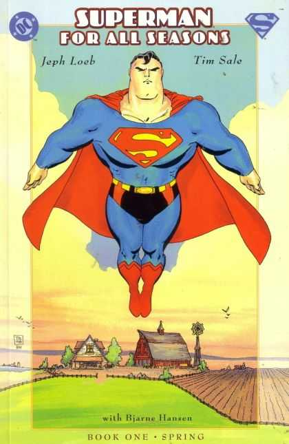 Superman For All Seasons 1 - Jeph Loeb - Tim Sale - Book One Spring - Fly - Green Field - Tim Sale