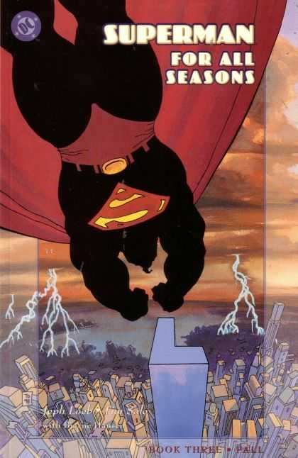 Superman For All Seasons 3 - Black Tards - Above City - Lightening - L Building - Ocean - Tim Sale