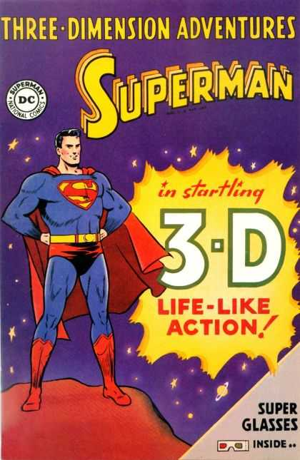 Superman in Startling 3D 1 - Dc - Superhero - Purple - 3-d - 50s