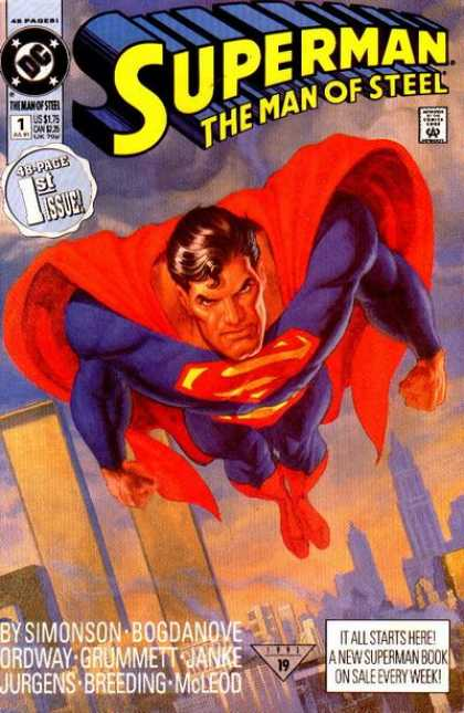 Superman: Man of Steel 1 - Superman - The Man - Steel - 48 Page - Stars