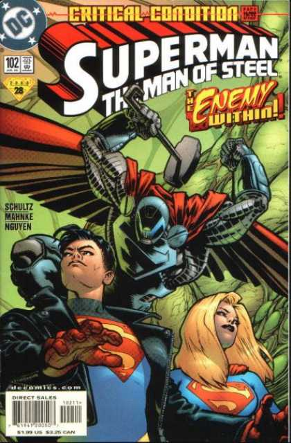 Superman: Man of Steel 102 - Couples - Flying - Hammer - Cape - Red