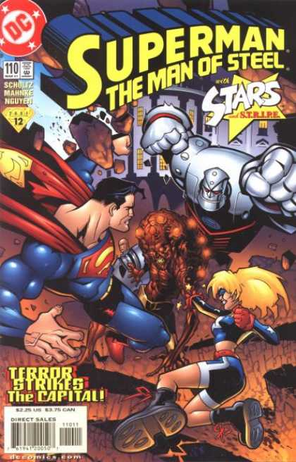 Superman: Man of Steel 110 - Terror Strikes The Capital - Stars And Stripe - Schultz - Mahnke - Nguyen