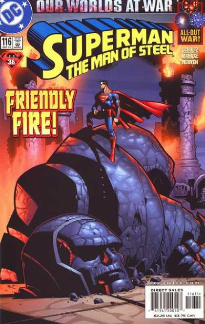 Superman: Man of Steel 116 - Dc - 116 - Friendly Fire - 36 - Our Worlds At War