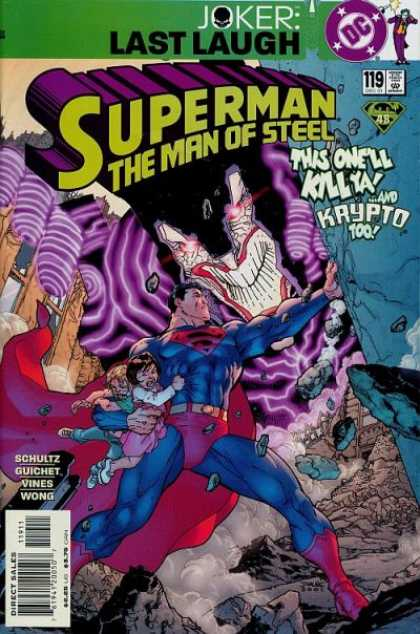 Superman: Man of Steel 119 - The Man Of Steel - Krypto - Superman - Children - Rescue