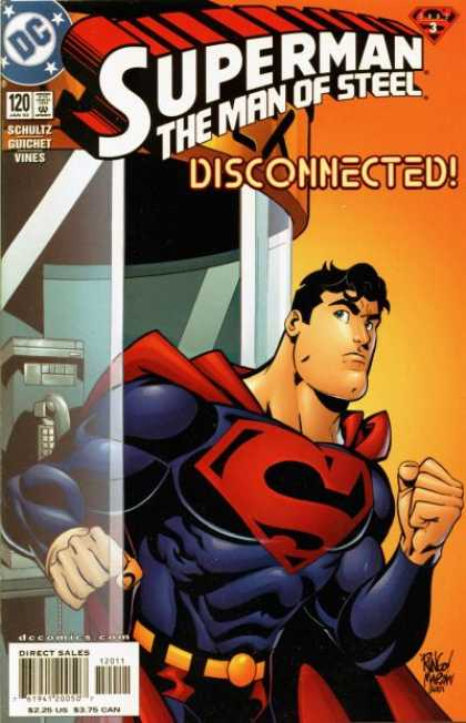 Superman: Man of Steel 120 - Disconnected - Superman - Schultz Guichet Vines - Direct Sales - Telephone