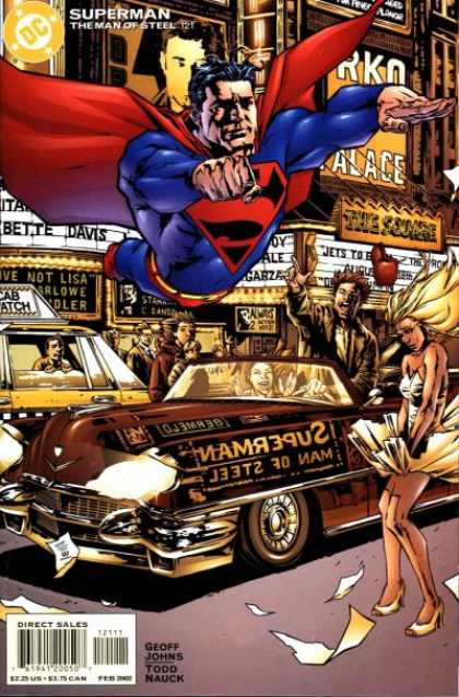 Superman: Man of Steel 121 - Dc - Taxi Cab - Geoff Johns - Todd Nauck - The Square