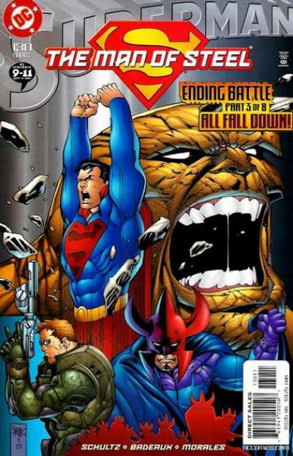 Superman: Man of Steel 130 - Dc - Ending Battle - Direct Sales - Schultz - Morales