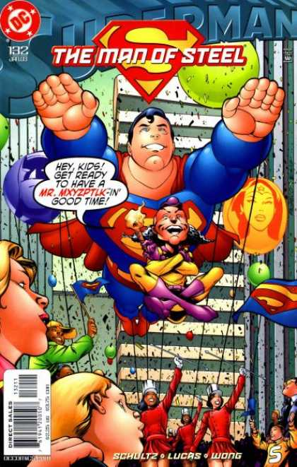 Superman: Man of Steel 132 - Balloons - Parade - Mr Mxyzptlk - Skyscrapers - January