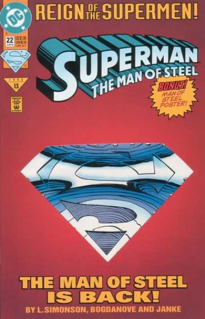 Superman: Man of Steel 22 - Superman - Dc - Man Of Steel - L Simonson - Bogdanove