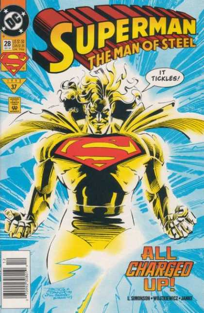 Superman: Man of Steel 28 - Charged Up - Tickles - Dc Comics - Glowing - Strong