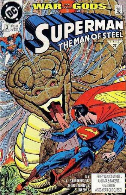 Superman: Man of Steel 3 - Snake - Superhero - Fire - War Of The Gods - Cape