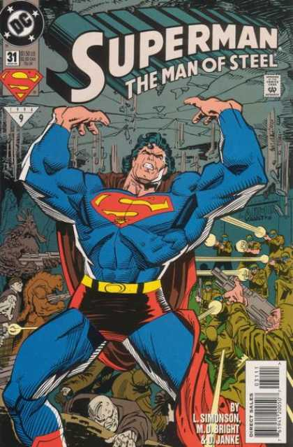 Superman: Man of Steel 31 - Superman The Man Of Steel - By L Simonson Mo Bright U0026 O Janke - Dc - Guns - Monsters