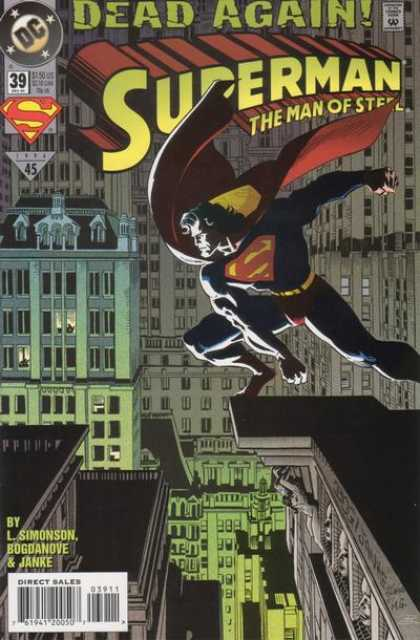 Superman: Man of Steel 39 - Superman - Steel - City - Jumping - Cape