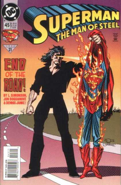 Superman: Man of Steel 45 - Clark Kent - End Of The Road - L Simonson - Dc Comics - Superheroes