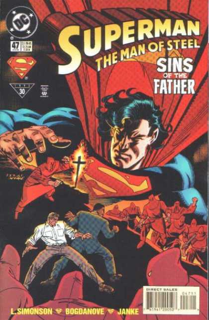 Superman: Man of Steel 47 - Dc - Sins Of The Father - Cross - Fire - Flames