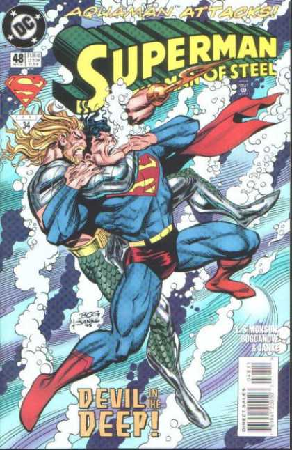 Superman: Man of Steel 48 - Superman - Enemy - Weapon - Fighting - Air Bubbles