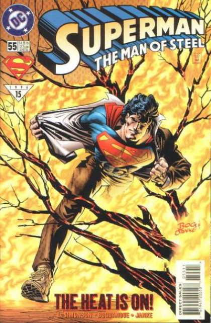 Superman: Man of Steel 55 - Superman - Running - Tree - Removing Clothes - The Heat Is On