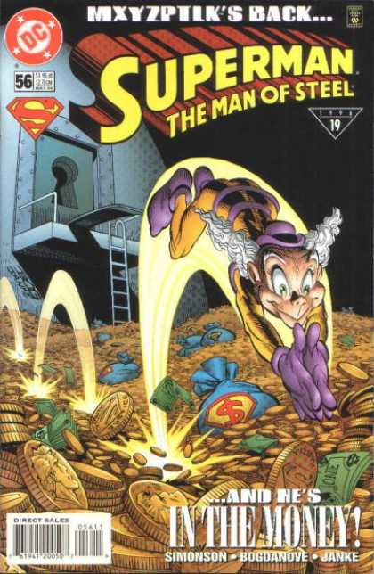 Superman: Man of Steel 56 - Superman The Man Of Steel 56 - Mxyzptlk - Gold - In The Money - Dc Comics